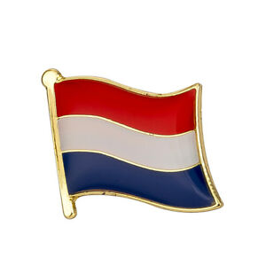 Netherlands Flag Lapel Pin 19 x 16mm Hat Tie Tack Badge Pin Free Shipping