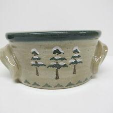 "Sonoma Lodge Soup Bowl  3 Trees Design  5.5"" Diameter X 2.5"" High Pottery China"