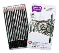 Derwent Academy SKETCHING Pencils Tin of 12 6B-5H Same Day Dispatch