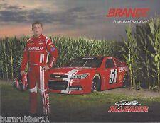 "2014 JUSTIN ALLGAIER ""BRANDT #51"" NASCAR SPRINT CUP SERIES POSTCARD"