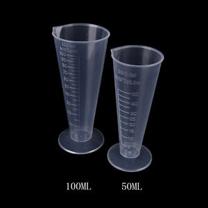 50ml 100ml  Plastic Beaker Graduated Measuring Cup for Lab Kitchen Test