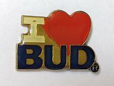 New listing Vintage Budweiser Bud Beer I Love Bud Lapel Pin
