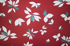 Red Floral Print #789 Nylon Lycra Spandex 4 Way Stretch Swimwear Fabric BTY
