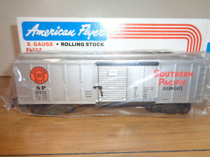 AMERICAN FLYER S GAUGE # 4-9711 SOUTHERN PACIFIC SILVER BOX CAR - NEW