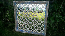 BEAUTIFUL ORNATE RUSTIC SQUARE WOODEN STYLE HOME OR GARDEN PANEL MIRROR (4181)