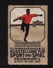 44939/ Reklamemarke - Ausstellung für Sport u. Spiel - Frankfurt am Main 1910