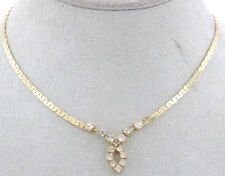 CLAIRE'S GOLD TONE NECKLACE WITH CLEAR STONES