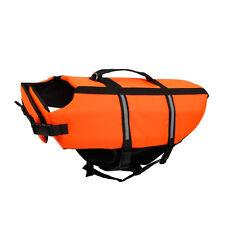 Pet Dog Life Jacket Clothes Swim Vest Safe Preservers Dog Yellow LifeCoat Size 2