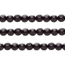 Wood Rounded Triangle Beads Black 10x10x10mm 16 Inch Strand