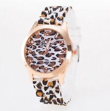 Popular Unisex Geneva Leopard Silicone Jelly Gel Quartz Analog Wrist Watch Best
