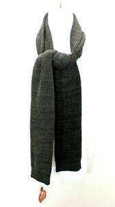 Roots73 U-Wallace Roots73 Knit Scarf Gray Unisex  MyHRTeam Logo NWT