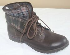 Rock & Candy by Zigi Womens Boots SIZE 11 Hiking NEW Blue Plaid Hard to Find