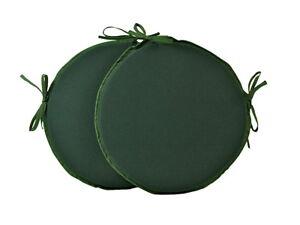 "Set of 2 Simply Green 12"" 14"" 16"" Bistro/Bar/Circular/Patio/Round Seat Pads"