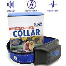 Dog Collar Collars No Bark No Shock Vibration Sound Training Large Small Dogs