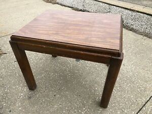 "25"" Lane Oak Square Simple Mid Century Wooden Accent Sofa End Table 1689 05"