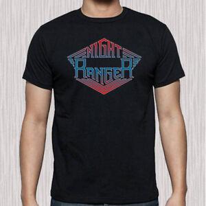 Night Ranger Logo Men's Black T-Shirt Size S to 3XL