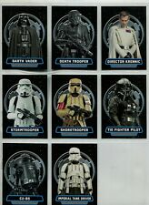 Star Wars Rogue One Complete 8 Card Chase Set Villains Of The Galactic Empire