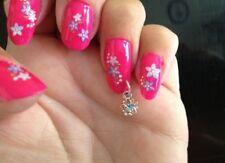 nail art piercing drill & X24 dangle charms nail jewellery bling acrylic diy
