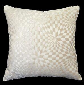 wg07a Tan Geometric Check Cotton Throw Pillow Case Cushion Cover*Custom Size