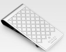 New Gucci Men's Shiny Metal Diamante Pattern Money Clip