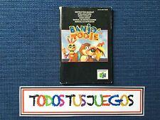 Manual Banjo Tooie Nintendo 64 N64 EXCELENTE CONDICION 1328
