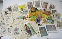 Junk Journal Supply Scrap Art Pop-Up Book Illustration Pages Ephemera Lot
