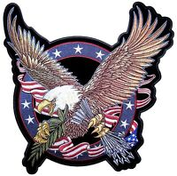 USA Patriotic Flag American Bald Eagle Logo Valve Stem Caps Tire Wheels Hero Car