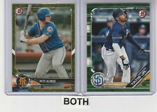 2 Camo Lot-2018 Bowman Pete Alonso RC Peter & 2019 Bowman Fernando Tatis Jr. RC