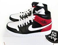 Nike Air Jordan 1 Retro Mid W Black White Noble Red Bred UK 2 3 5 7 8 9 10 US