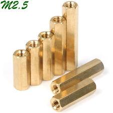 M2.5 Brass Female Hex Column Standoff Support Spacer Pillar PCB Board Isolation