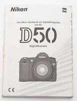 Bedienungsanleitung Nikon D50 D 50 D-50 Anleitung