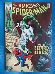 AMAZING SPIDER-MAN # 76 - (FN/VF) -THE LIZARD LIVES,HUMAN TORCH,GWEN STACY