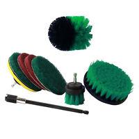 9Pcs MéChage Brosse Power Kit Scrubber Brosses Drill avec 6 Pouces Long Rea T6Z2