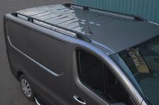Black Aluminium Roof Rack Rails Side Bars Set To Fit LWB Vauxhall Vivaro (2014+)