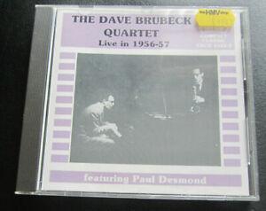 Dave Brubeck Quartet : Live in 1956-57 CD Featuring Paul Desmond