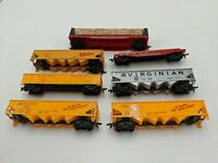 Vintage HO Scale Tyco Train Car Lot of 7 Coal Car, Wood Car, Flat Car