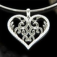 GOOIX Halskette Damenkette Collier Kette HEART Damen Herz 925 Sterling Silber