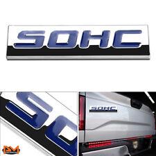 """SOHC"" Polished Metal 3D Decal Blue Emblem Exterior Sticker For 88-05 HondaCivic"