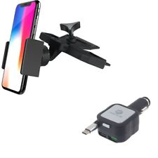 Holder CD Slot Car Mount w 4.8Amp Retractable Charger for USB-C Phones