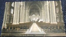 England The Nave Bristol Cathedral - posted 1924