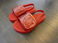 Michael Kors Toddlers girls Eli Gear T slides sandals sandels shoes new red