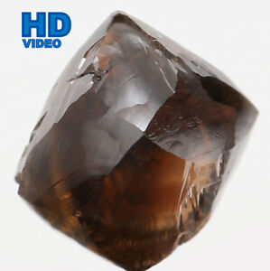 Natural Loose Diamond Crystal Rough I1 Clarity Brown Color 6.80 MM 2.56 Ct L6307