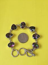 925 Sterling Silver and Purple Amethyst Bracelet, approx. 37.84 grams