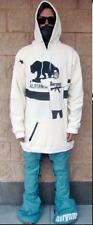 "Akrynm Tall ""Grandson"" Hoodie XLT - Off White Ski / Snowboard Hoodie"