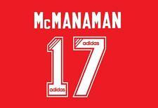 No 17 McManaman Liverpool 1995-1996 Home Football Nameset for Shirt LFC