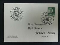 1938 Walldorf Germany Graf Zeppelin II Postcard Cover LZ 130 to Hannover