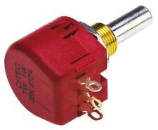 Te Connectivity TW SERIE Wirewound potenciómetro con un eje de diámetro. 6.35 mm, 25k