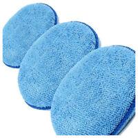3 x Microfibre Foam Sponge Polish Wax Applicator Pads Car Home Cleaning C5M3
