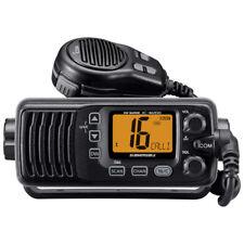 Icom IC-M200 VHF Black Marine Radio Front Mount Speaker ipx7 submersible Body