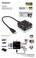 YPbPr RGB Component + Audio R/L to HDMI Converter Full HD 1080p
